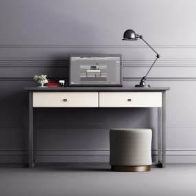 现代书桌组合3D模型【ID:948746056】