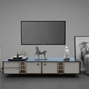 新中式家具组合3D模型【ID:143385081】