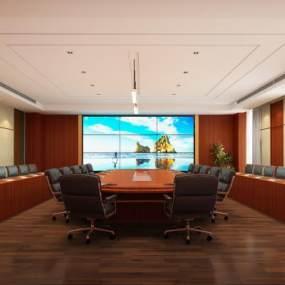 现代会议室3D模型【ID:950407173】