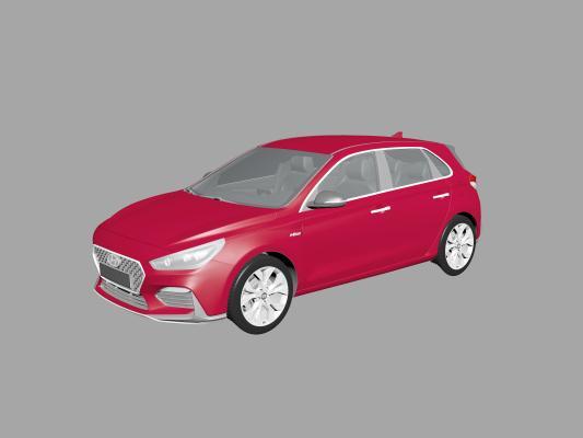 现代轿车3D模型【ID:452376761】