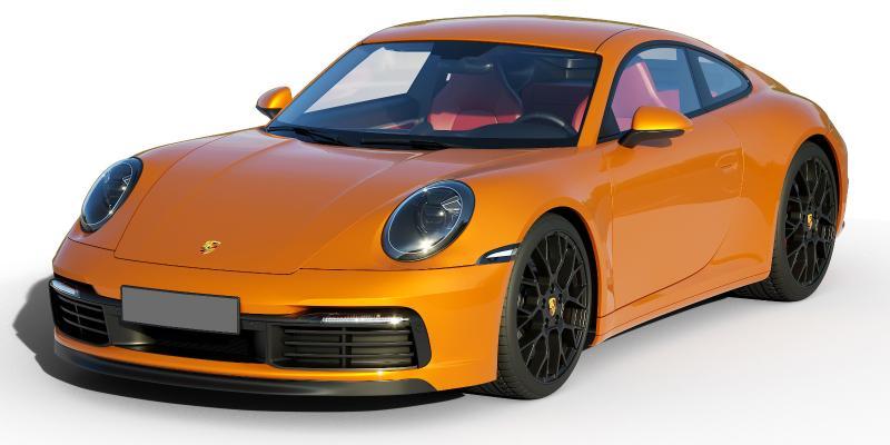 現代保時捷轎跑轎車3D模型【ID:444302728】