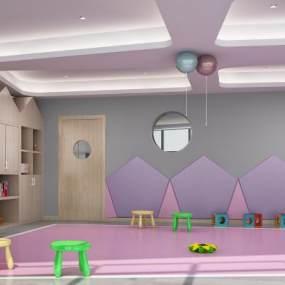 现代幼儿园早教教室3D模型【ID:953459664】