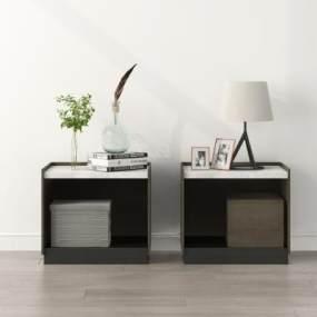 現代床頭柜3D模型【ID:143915805】