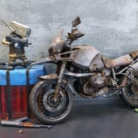工业风摩托车3D模型【ID:432837787】