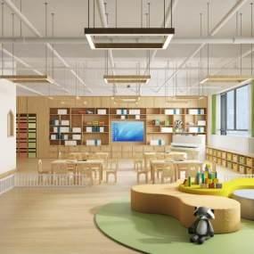 現代幼兒園教室3D模型【ID:946531688】