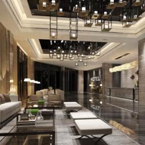 酒店大堂 3D模型【ID:740649038】