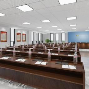 现代大会议室3D模型【ID:952233198】