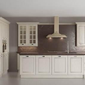 欧式厨房橱柜3D模型【ID:149026726】