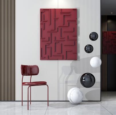 现代单椅 挂件 墙饰组合