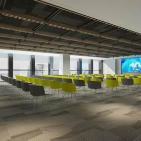 现代多媒体会议室3D模型【ID:952828199】