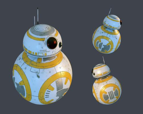 現代BB8機器人3D模型【ID:332837463】
