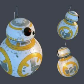 现代BB8机器人3D模型【ID:332837463】