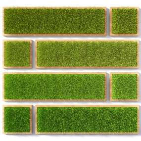 草坪墙饰植物墙挂件草地3D模型【ID:230592736】