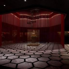 新中式展厅3D模型【ID:935668760】