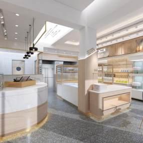 现代面包店3D模型【ID:648882922】