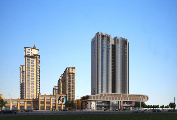 现代酒店公寓项目规划3D模型【ID:145490994】