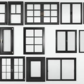 现代窗户组合模型3D模型【ID:330851279】