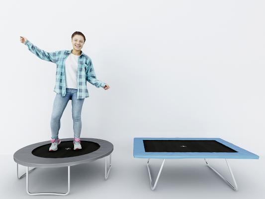 現代跳床組合3D模型【ID:935303078】