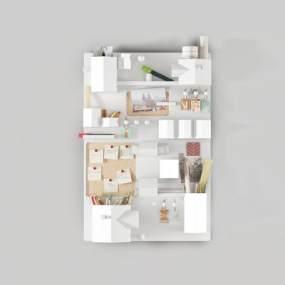 北欧墙饰文具组合3D模型【ID:243920742】
