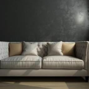 现代双人沙发3D模型【ID:632484591】