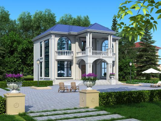 现代别墅3D模型【ID:146847355】