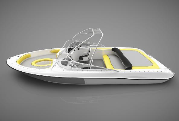 现代风格小船3D模型【ID:443144895】