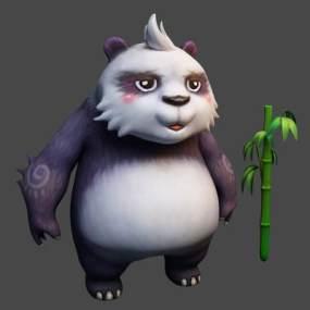 现代熊猫3D模型【ID:332837470】