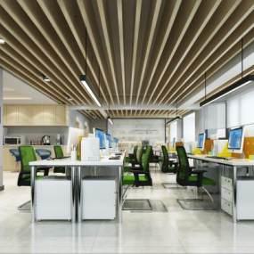 现代公共办公区3D模型【ID:931940024】