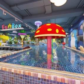 现代儿童水上乐园3D模型【ID:833414382】