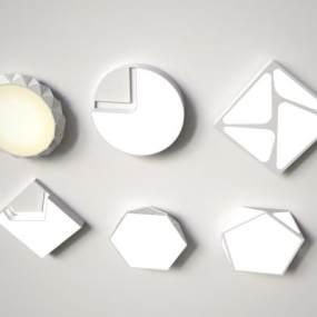现代吸顶灯3D模型【ID:852637027】