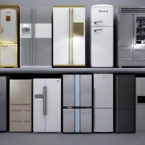 现代冰箱3D模型【ID:233504677】