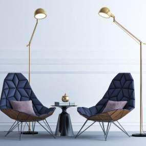现代休闲沙发3D模型【ID:645532710】