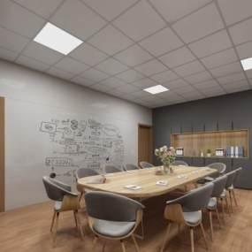 办公室会议室休息室研讨室心里咨询室独立单人办公室 3D模型【ID:940591092】
