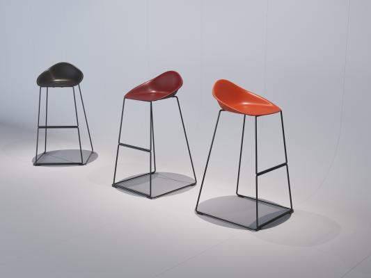 現代吧椅3D模型【ID:752384217】