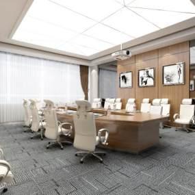 现代会议室3D模型【ID:944122197】