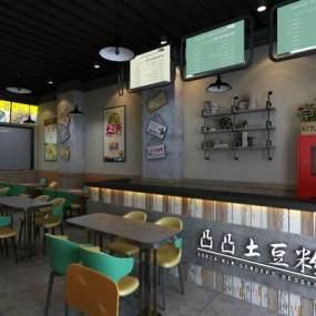 土豆粉米線3D模型【ID:643834208】