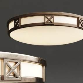 現代簡約金屬吸頂燈3D模型【ID:850582032】
