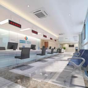 现代公司服务大厅3D模型【ID:932934281】