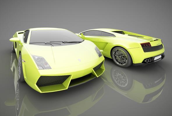 現代風格小汽車3D模型【ID:441859771】