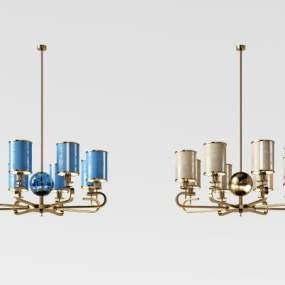 新中式金属吊灯3D模型【ID:732104845】