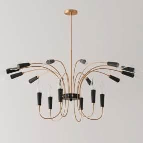 北歐金屬吊燈3D模型【ID:748201854】