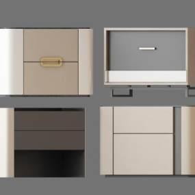 现代床头柜组合 3D模型【ID:841385911】