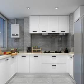 現代廚房3D模型【ID:548757398】
