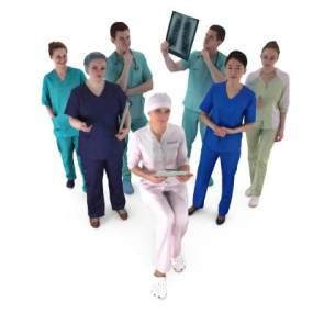 现代医生护士人物组合3D模型【ID:335614013】