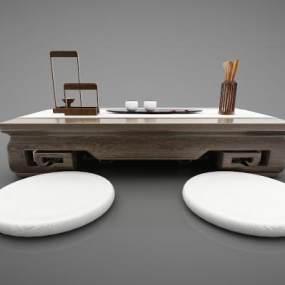 新中式风格茶桌3D模型【ID:844856904】