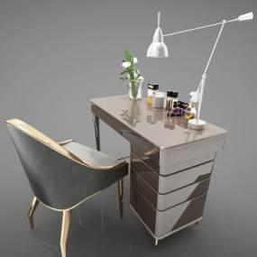 现代风格办公桌3D模型【ID:953478123】