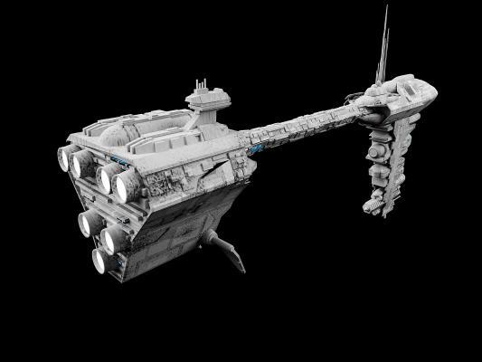 现代飞船3D模型【ID:436216995】