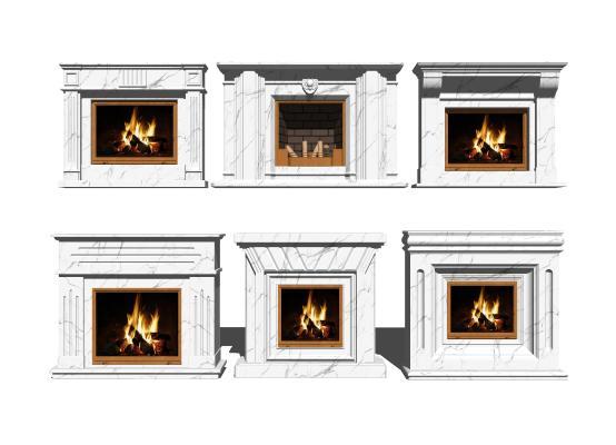 欧式壁炉组合SU模型【ID:248183294】