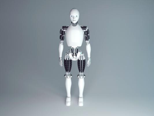 现代合金智能机器人3D模型【ID:448185326】