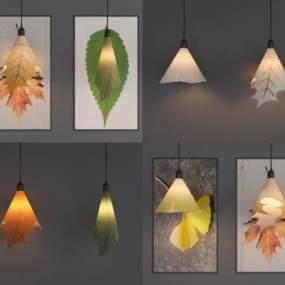 现代艺术树叶 3D模型【ID:742235898】